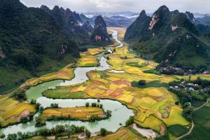 Vietnam Landscape Water View