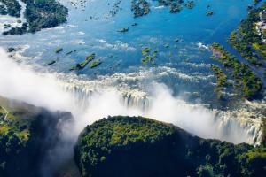 Zimbabwe Waterfall and Land