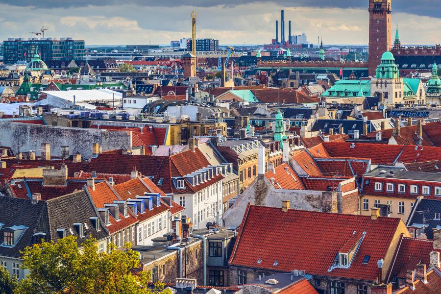 Denmark City Overlooking