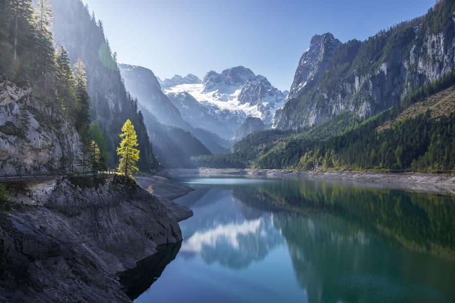 Austria Mountain Water View