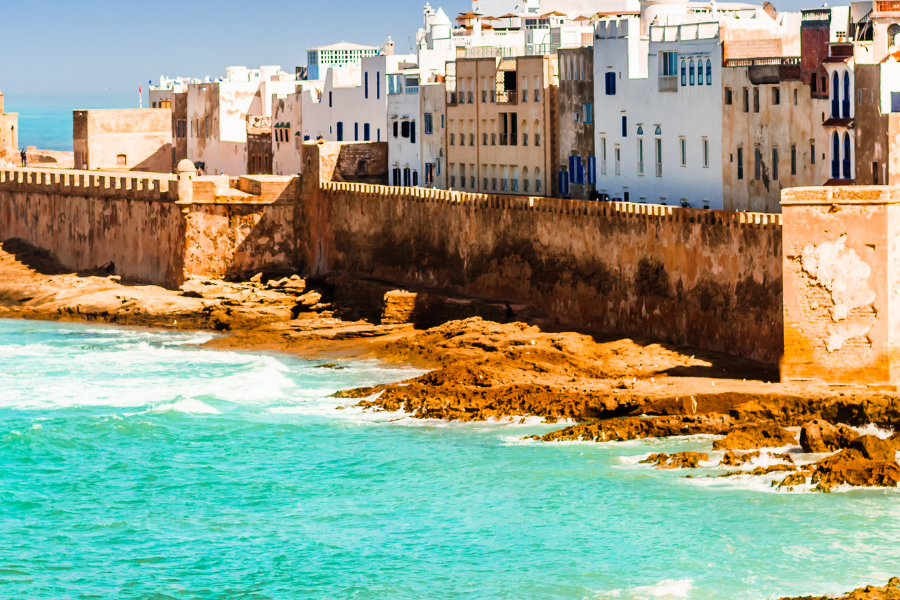 Morocco City Over Water